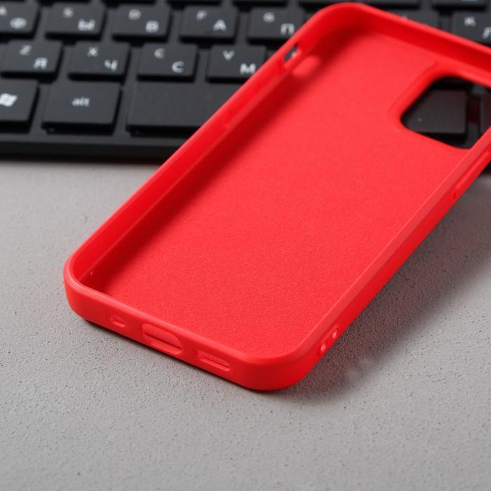Чехол Activ Full Original Design, для Apple iPhone 12 mini, силиконовый, красный - фото 3