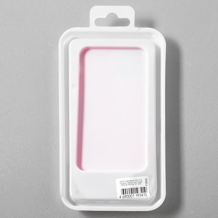 Чехол Activ Full Original Design, для Apple iPhone 12 mini, силиконовый, красный - фото 5
