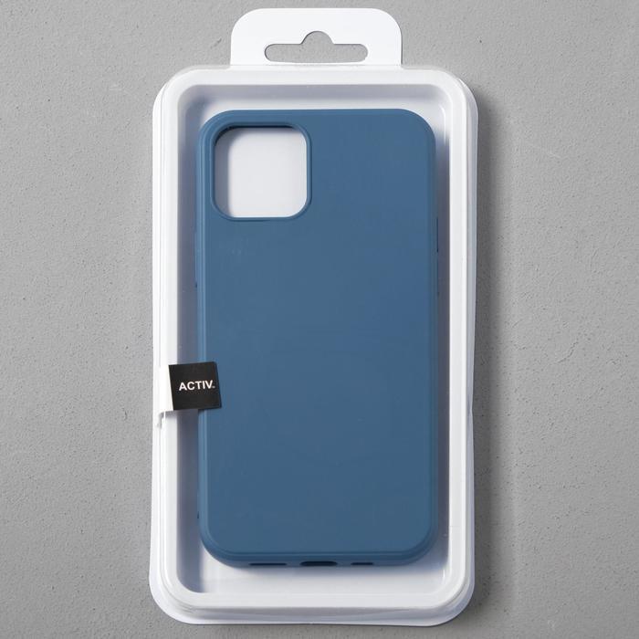 Чехол Activ Full Original Design, для Apple iPhone 12/12 Pro, силиконовый, синий - фото 4
