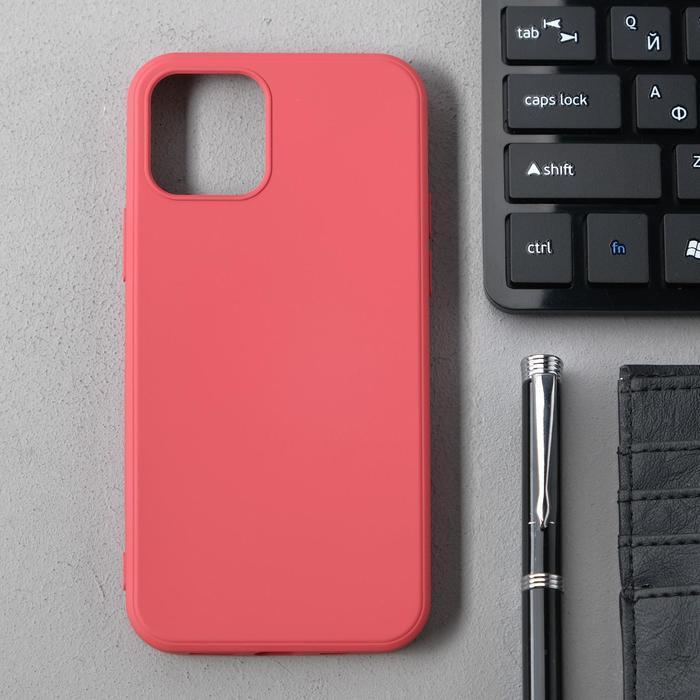 Чехол Activ Full Original Design, для Apple iPhone 12/12 Pro, силиконовый, бордовый - фото 1
