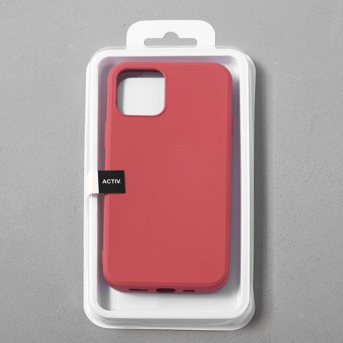 Чехол Activ Full Original Design, для Apple iPhone 12/12 Pro, силиконовый, бордовый - фото 4