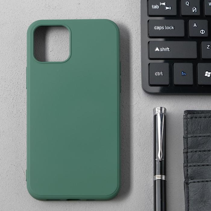 Чехол Activ Full Original Design, для Apple iPhone 12/12 Pro, силиконовый, тёмно-зелёный - фото 1