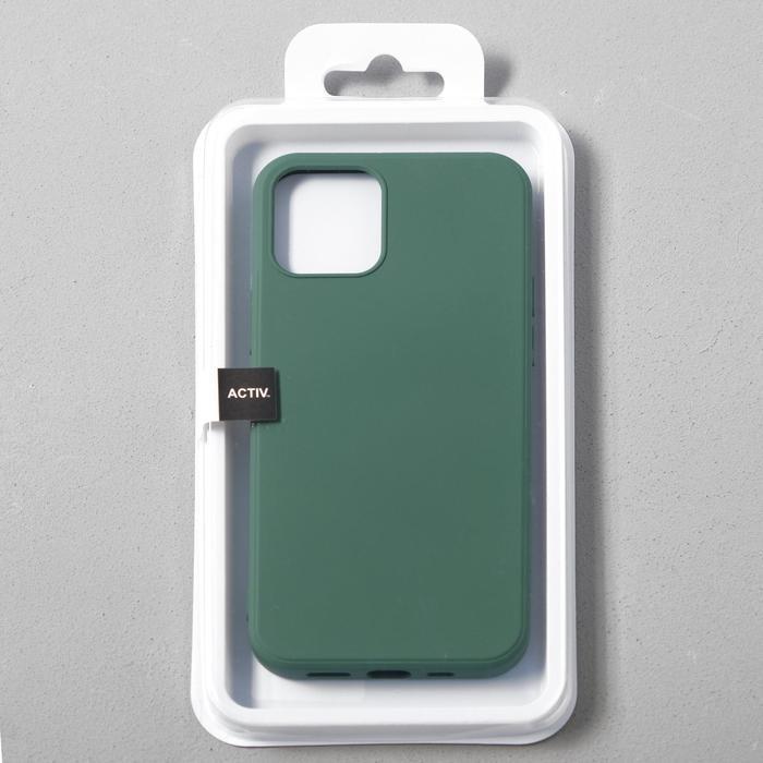 Чехол Activ Full Original Design, для Apple iPhone 12/12 Pro, силиконовый, тёмно-зелёный - фото 4