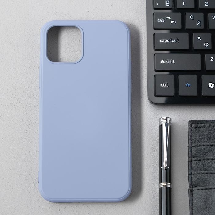 Чехол Activ Full Original Design, для Apple iPhone 12/12 Pro, силиконовый, серый - фото 1