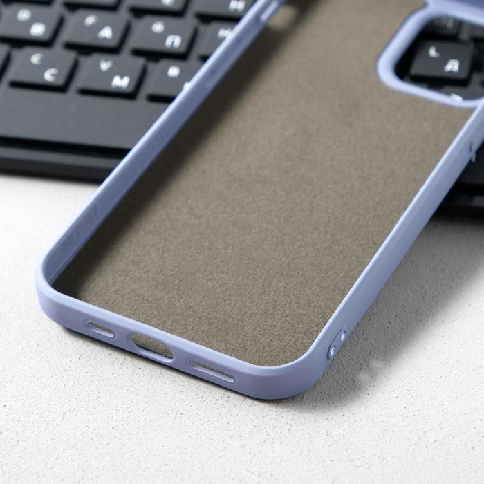Чехол Activ Full Original Design, для Apple iPhone 12/12 Pro, силиконовый, серый - фото 3