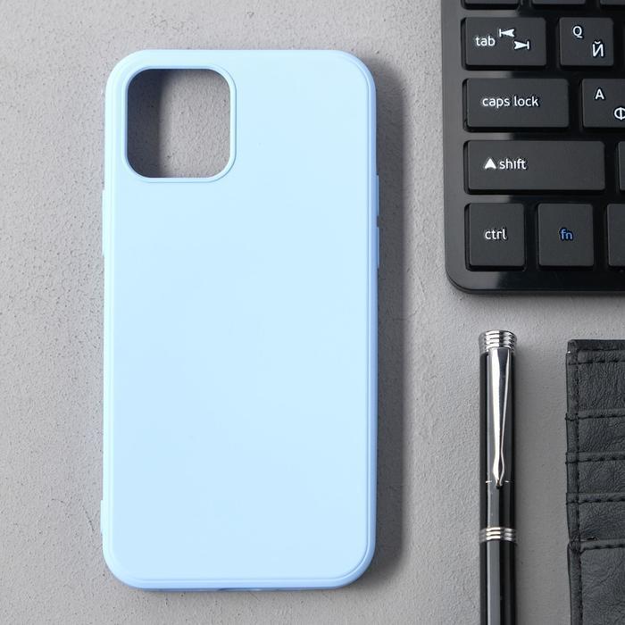Чехол Activ Full Original Design, для Apple iPhone 12/12 Pro, силиконовый, голубой - фото 1