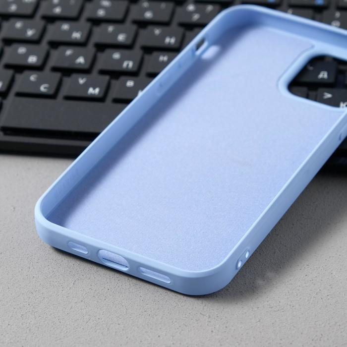Чехол Activ Full Original Design, для Apple iPhone 12/12 Pro, силиконовый, голубой - фото 3