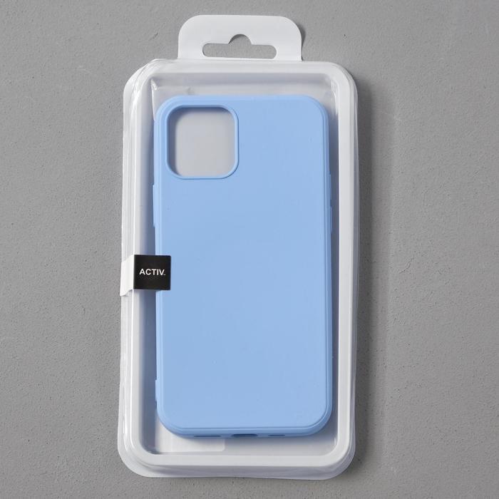 Чехол Activ Full Original Design, для Apple iPhone 12/12 Pro, силиконовый, голубой - фото 4