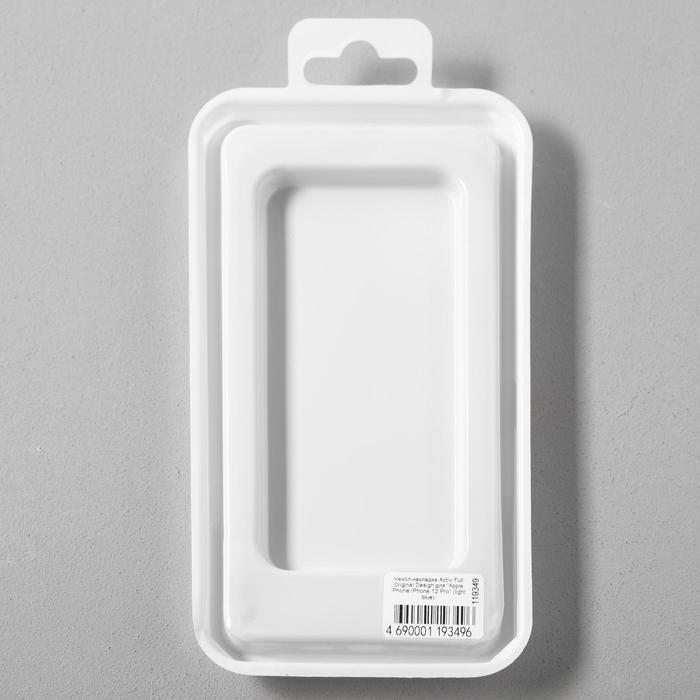 Чехол Activ Full Original Design, для Apple iPhone 12/12 Pro, силиконовый, голубой - фото 5