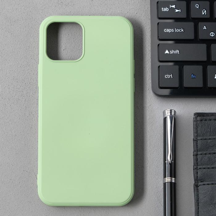 Чехол Activ Full Original Design, для Apple iPhone 12/12 Pro, силиконовый, светло-зелёный - фото 1