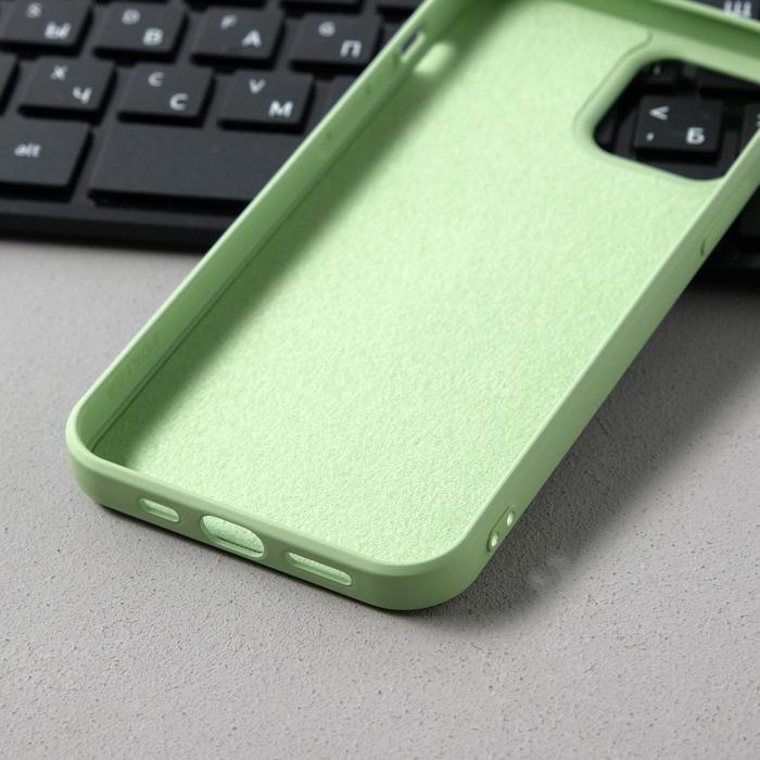 Чехол Activ Full Original Design, для Apple iPhone 12/12 Pro, силиконовый, светло-зелёный - фото 3