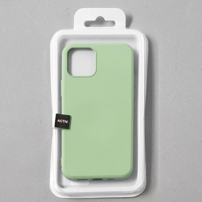 Чехол Activ Full Original Design, для Apple iPhone 12/12 Pro, силиконовый, светло-зелёный - фото 4