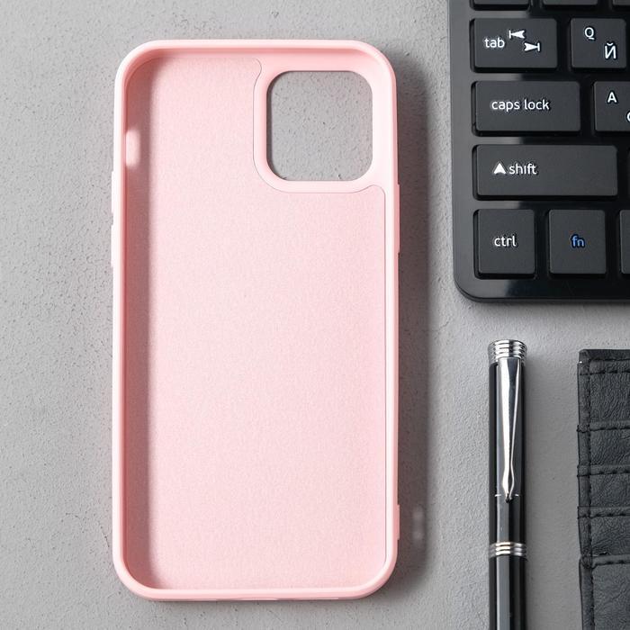 Чехол Activ Full Original Design, для Apple iPhone 12/12 Pro, силиконовый, светло-розовый - фото 2