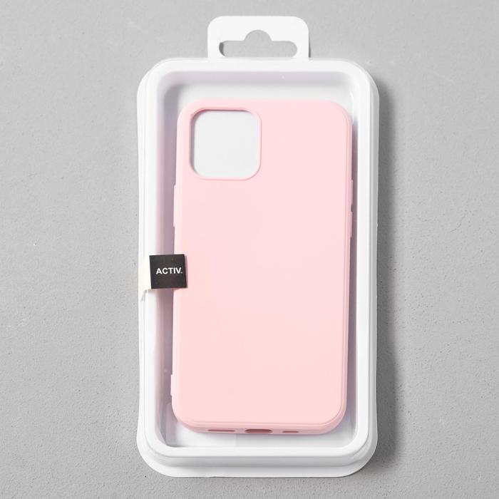Чехол Activ Full Original Design, для Apple iPhone 12/12 Pro, силиконовый, светло-розовый - фото 4