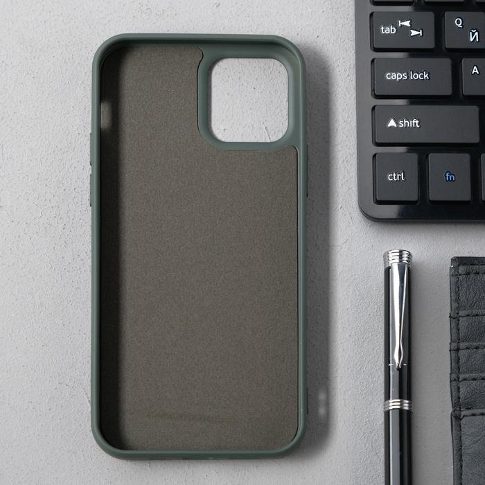 Чехол Activ Full Original Design, для Apple iPhone 12/12 Pro, силиконовый, оливковый - фото 2