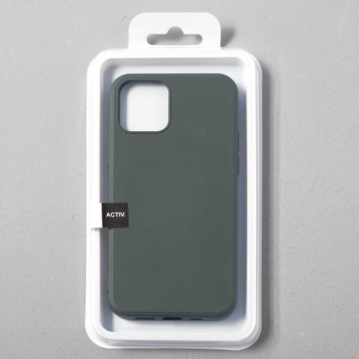 Чехол Activ Full Original Design, для Apple iPhone 12/12 Pro, силиконовый, оливковый - фото 4