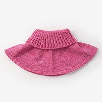Шарф-манишка для девочки, размер 5-8 лет, цвет фуксия