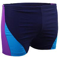 Плавки-шорты взрослые для плавания, размер 46, цвет чёрный/синий