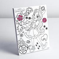 Холст для росписи 15x20 см, Enchantimals (Бри Кроля и Твист) в плёнке