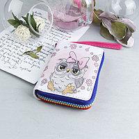 Кошелёк, 2 отдела, для карт, для монет, с ручкой, цвет розовый