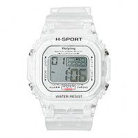 Часы наручные электронные 'Самнер', спортивные, влагозащищенные, белые