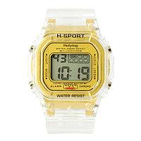 Часы наручные электронные 'Самнер', спортивные, влагозащищенные, золотые