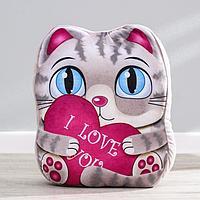 Мягкая игрушка 'Котик', с сердцем