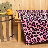 Простыня для бани Leopard 150х180±5 см, 100 хлопок, вафельное полотно, 160 гр/м2