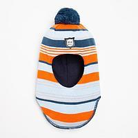 Шлем-капор детский, цвет оранжевый, размер 48-50