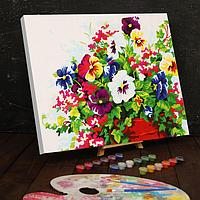 Картина по номерам на холсте 40x50 см 'Цветы в горшке'