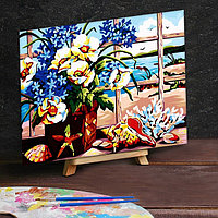 Картина по номерам на холсте 40x50 см 'Цветы у окна'