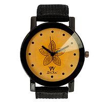 Часы наручные женские 'Лотос', циферблат d3.3 см, черные