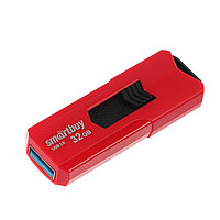 Флешка Smartbuy STREAM Red, 32 Гб, USB3.0, чт до 140 Мб/с, зап до 40 Мб/с, красная