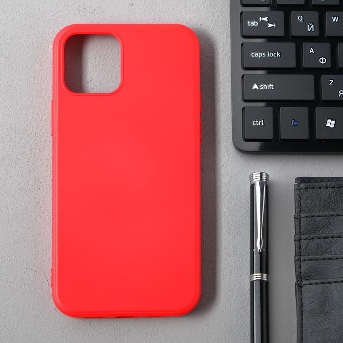 Чехол Activ Full Original Design, для Apple iPhone 12/12 Pro, силиконовый, красный - фото 1
