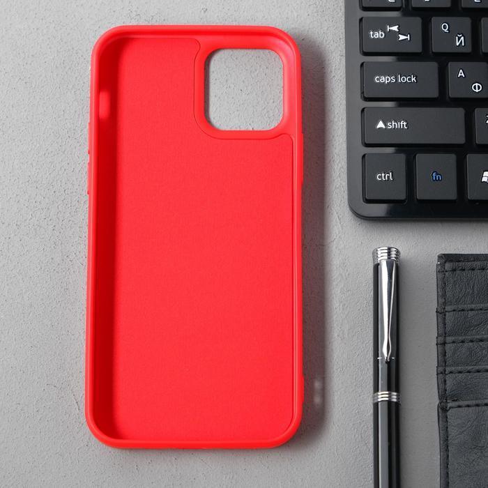 Чехол Activ Full Original Design, для Apple iPhone 12/12 Pro, силиконовый, красный - фото 2