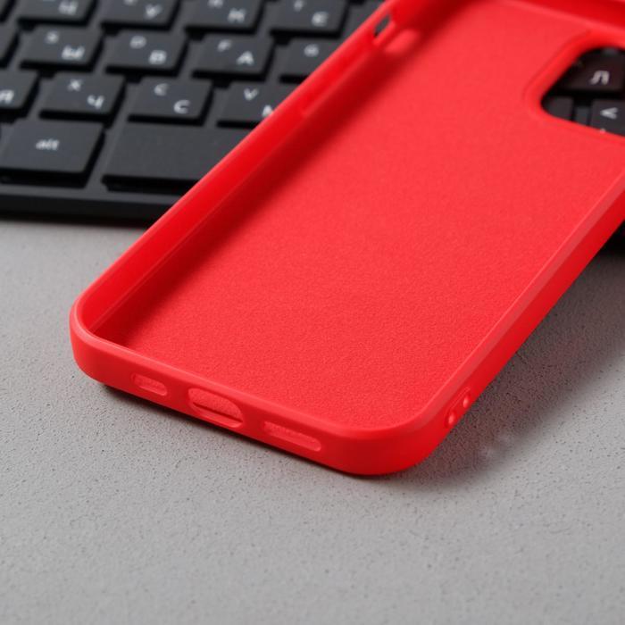Чехол Activ Full Original Design, для Apple iPhone 12/12 Pro, силиконовый, красный - фото 3