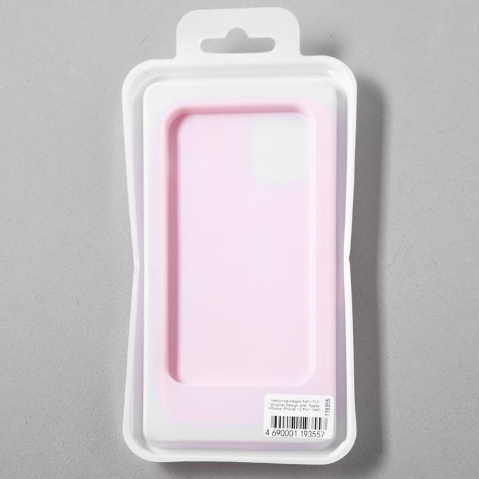 Чехол Activ Full Original Design, для Apple iPhone 12/12 Pro, силиконовый, красный - фото 5