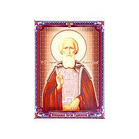 Икона холст 'Преподобный Сергий Радонежский' на подвесе