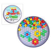 Мозаика шестигранная, 120 элементов (круглая пласт.коробка)