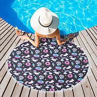 Полотенце пляжное Этель 'Радужные сны', d 150 см, микрофибра, 100 п/э