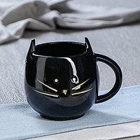 Кружка 'Кошка', 0,45 л, цвет чёрный,