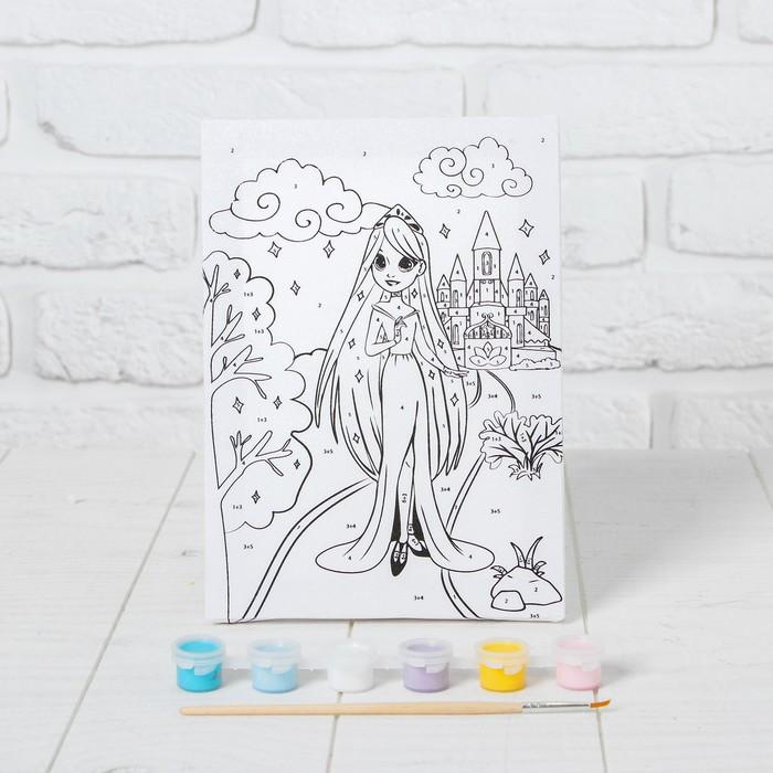 Картина по номерам 'Принцесса в саду' 21x15 см - фото 3