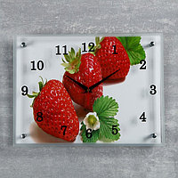 Часы настенные, серия Кухня, 'Клубника', 30х40 см, микс