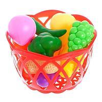Набор продуктов 'Фрукты и овощи в корзине', 11 предметов, МИКС