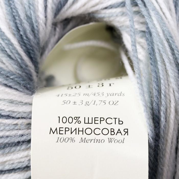 Пряжа 'Элитная' 100 мериносовая шерсть 415м/50гр (996 М) - фото 4