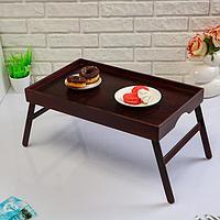 Поднос с ножками для завтрака поднос 'Венгера', орех + лак, 50x30 см