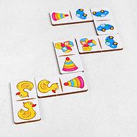 Домино 'Детские игрушки', 28 элементов, размер плашки 3 x 6 x 0,4 см