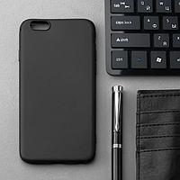 Чехол Innovation, для iPhone 6/6S, силиконовый, матовый, черный