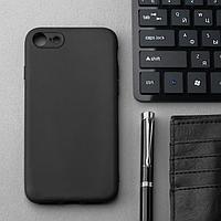 Чехол Innovation, для iPhone 7/8/SE 2020, силиконовый, матовый, черный
