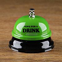 Звонок настольный 'Время пить!', микс, 7.5х7.5х6.5 см